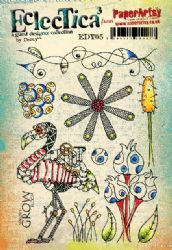 Eclectica³ Rubber Stamp Sheet by Darcy EDY05